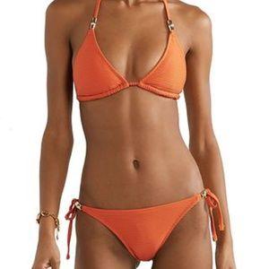 Heidi Klein Orange Bikini XL Top XS Bottom